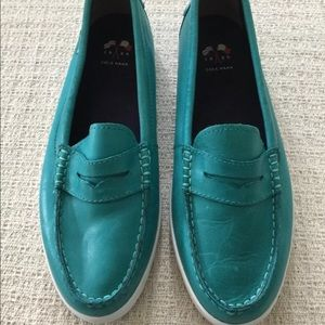 Cole Haan Women Charlainesam Teal Loafers Size 9.5